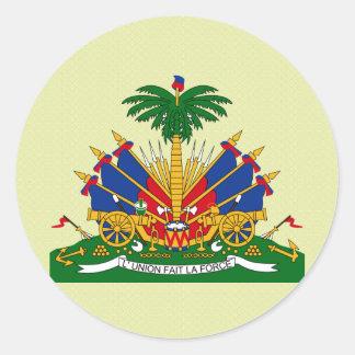 Haiti Coat of Arms detail Round Sticker