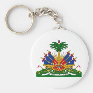 Haiti Coat of arms HT Basic Round Button Key Ring