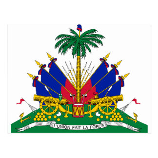 Haiti coat of arms postcard