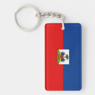 Haiti Double-Sided Rectangular Acrylic Key Ring
