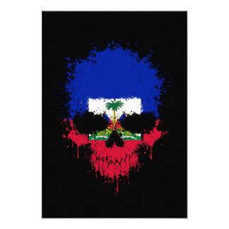 Haiti Dripping Splatter Skull Invites