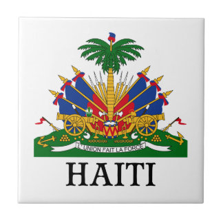 HAITI - emblem/coat of arms/flag/symbol Small Square Tile