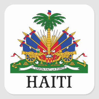 HAITI - emblem/coat of arms/flag/symbol Square Sticker