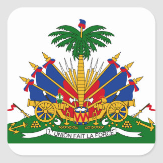 haiti emblem square sticker