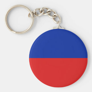 Haiti Fisheye Flag Keychain