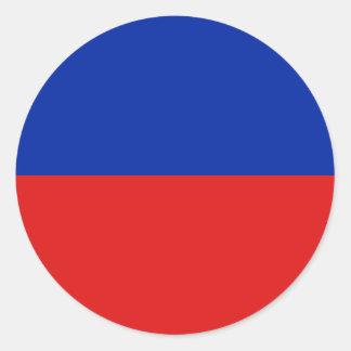 Haiti Fisheye Flag Sticker
