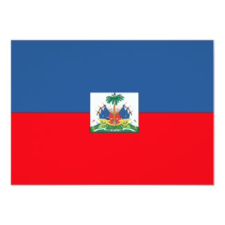 Haiti Flag 13 Cm X 18 Cm Invitation Card