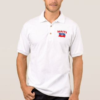 Haiti Flag 4 Polo Shirt