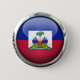 Haiti Flag Glass Ball 6 Cm Round Badge