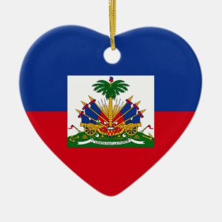 Haiti Flag Heart Ceramic Heart Decoration