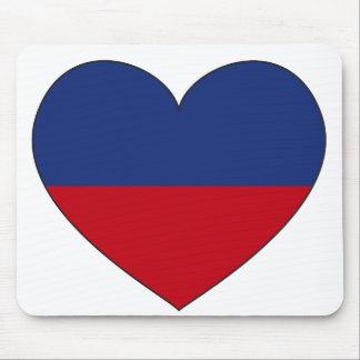 Haiti Flag Heart Mouse Mat