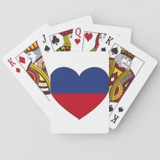 Haiti Flag Heart Playing Cards