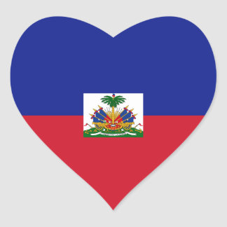 Haiti Flag Heart Sticker