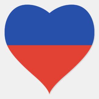 Haiti Flag Heart Sticker