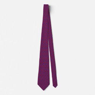 Haiti Flag Honeycomb Tie