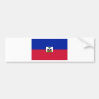 Haiti Flag HT Bumper Sticker