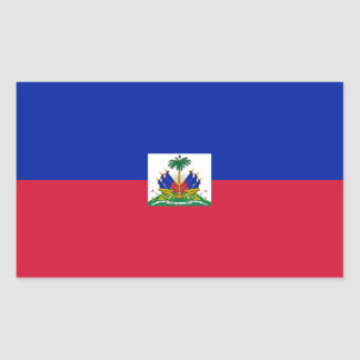 Haiti Flag HT Rectangular Sticker
