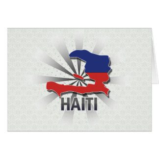 Haiti Flag Map 2.0 Greeting Card