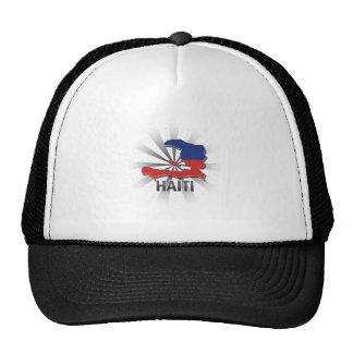 Haiti Flag Map 2.0 Hats