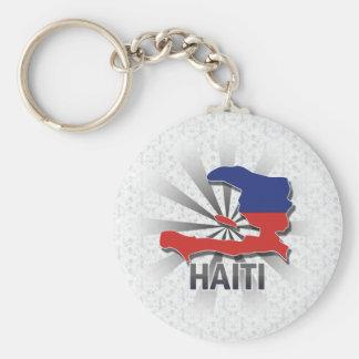 Haiti Flag Map 2.0 Key Ring