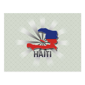 Haiti Flag Map 2.0 Postcard