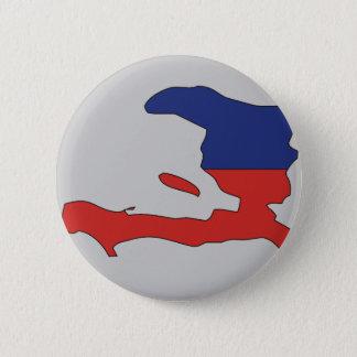 Haiti flag map 6 cm round badge