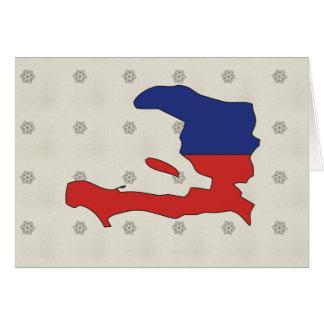 Haiti Flag Map full size Greeting Card
