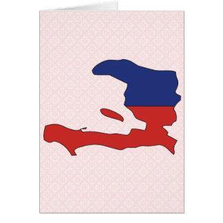 Haiti Flag Map full size Cards