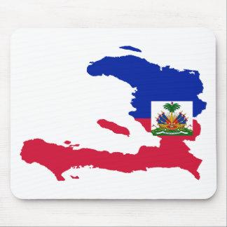 Haiti Flag Map HT Mouse Mat