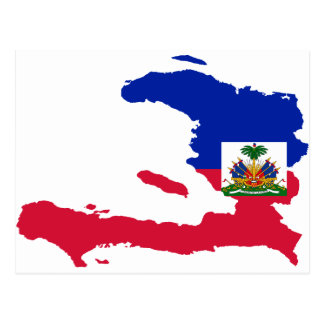 Haiti Flag Map HT Postcard