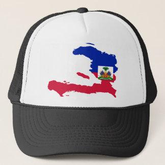 Haiti Flag Map HT Trucker Hat
