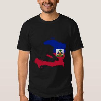 Haiti Flag Map Tees