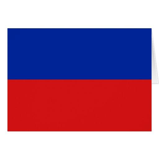 Haiti Flag Notecard Card