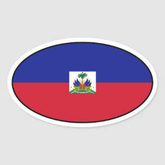 Haiti Flag Oval Sticker
