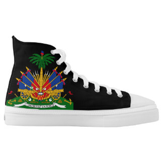 Haiti Flag Printed Shoes