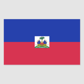 Haiti Flag Rectangular Sticker
