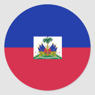 Haiti Flag Round Stickers