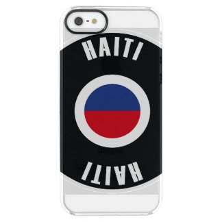 Haiti Flag Simple Clear iPhone SE/5/5s Case