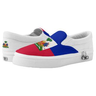 Haiti Flag Slip-On Shoes