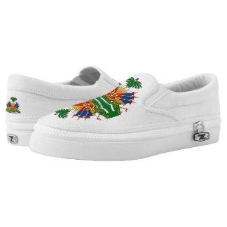 Haiti Flag Slip On Shoes