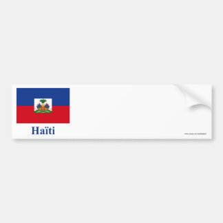 Haiti Flag with Name in French Bumper Sticker