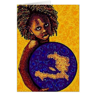 Haiti girl greeting card