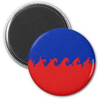 Haiti Gnarly Flag Magnets