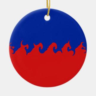 Haiti Gnarly Flag Ornament