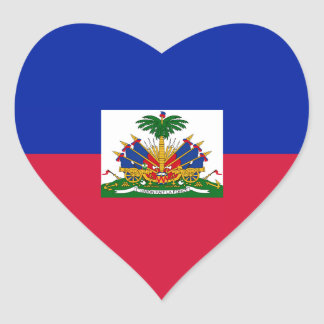 Haiti – Haitian Flag Heart Sticker