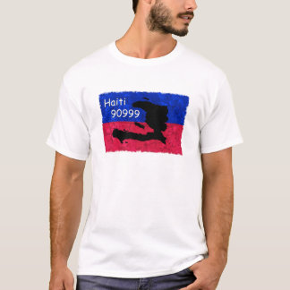 Haiti Help Flag, Text Message 90999 to Donate T-Shirt