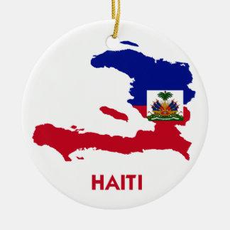 HAITI MAP CHRISTMAS ORNAMENT
