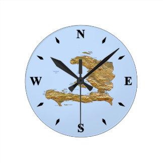 Haiti Map Clock
