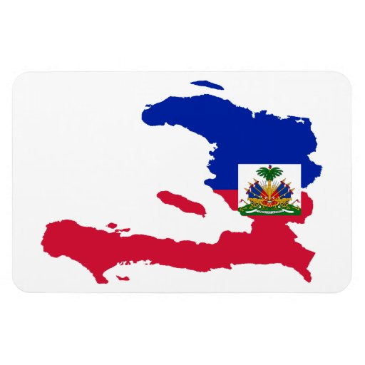 HAITI MAP VINYL MAGNET