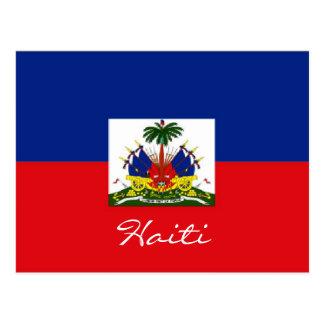 Haiti national flag postcard